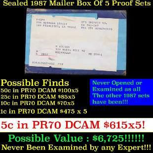 ***Auction Highlight*** Original sealed box 5- 1987