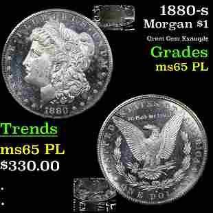 1880-s Morgan $1 Grades GEM Unc PL