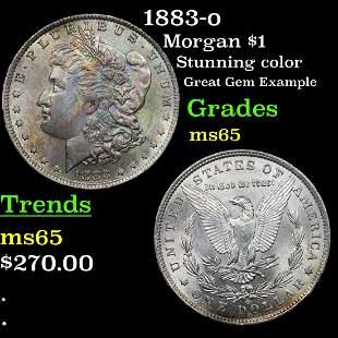 1883-o Morgan $1 Grades GEM Unc