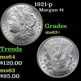 1921-p Morgan $1 Grades Select+ Unc
