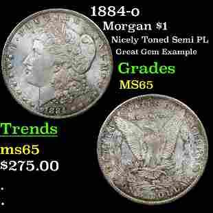 1884-o Morgan $1 Grades GEM Unc