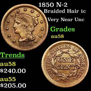 1850 N-2 Braided Hair 1c Grades Choice AU/BU Slider