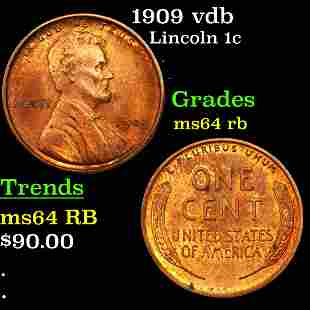 1909 vdb Lincoln 1c Grades Choice Unc RB