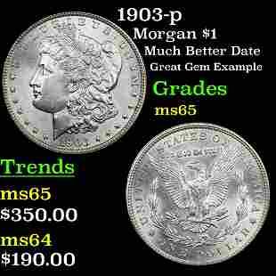 1903-p Morgan $1 Grades GEM Unc