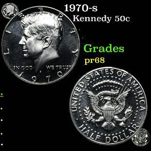 1970-s Kennedy 50c Grades GEM++ Proof