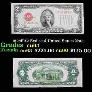 1928F $2 Red seal United States Note Grades Select CU