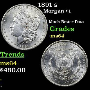 1891-s Morgan $1 Grades Choice Unc