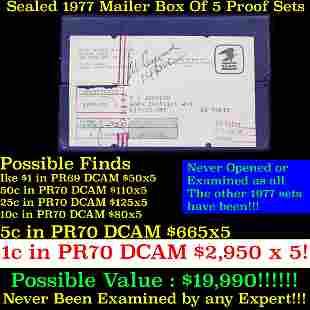 ***Auction Highlight*** Original sealed box 5- 1977