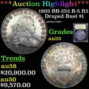 *Highlight* 1803 BB-252 B-5 R2 Draped Bust $1 Graded
