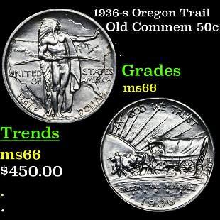 1936-s Oregon Trail Old Commem 50c Grades GEM+ Unc