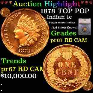 *Highlight* 1878 TOP POP Indian 1c Graded pr67 RD CAM
