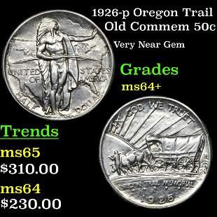 1926-p Oregon Trail Old Commem 50c Grades Choice+ Unc