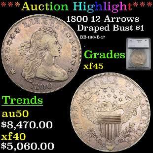 *Highlight* 1800 BB-192 B-19 Draped Bust $1 Graded