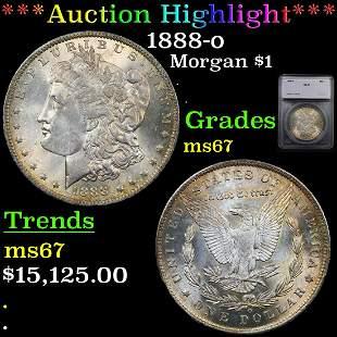 *Highlight* 1888-o Morgan $1 Graded ms67