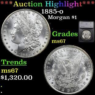 *Highlight* 1885-o Morgan $1 Graded ms67