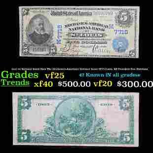 1902 $5 National Bank Note The Mechanics-American