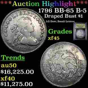 ***Auction Highlight*** 1796 BB-65 B-5 Draped Bust