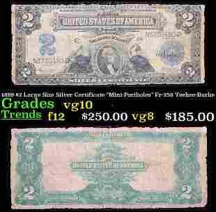 """1899 $2 Large Size Silver Certificate """"Mini-Portholes"""""""