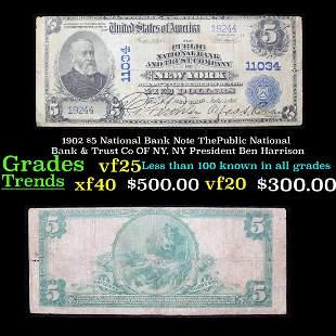 1902 $5 National Bank Note ThePublic National Bank &
