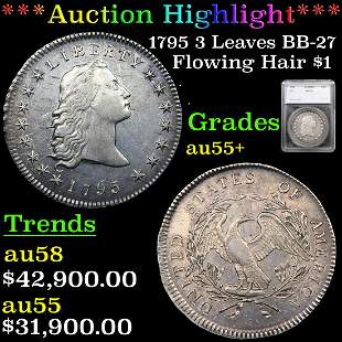 ***Auction Highlight*** 1795 Flowing Hair Flowing Hair
