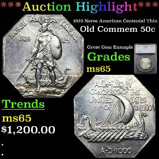 ***Auction Highlight*** 1925 Norse American Centenial