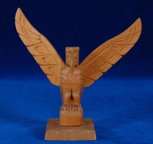 "7:  Ellen Neel Eagle Totem 9 1/2"" W. 9 1/4"" H. Fine Con"