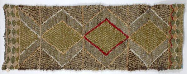 "17:  Salish Wool Weaving by Anabel Stewart 28""x 20"" Fai"