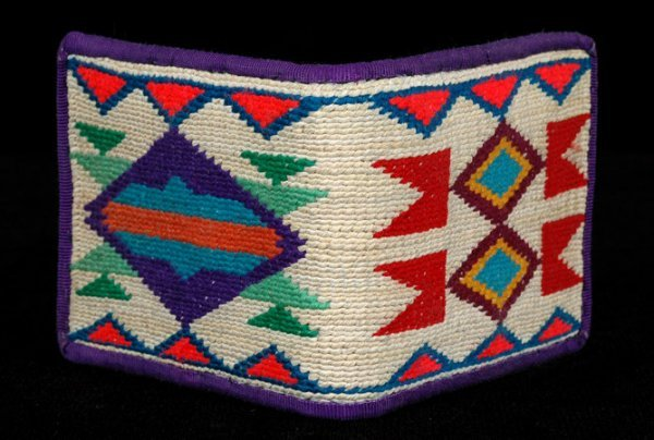 "5: Nez Perce Cornhusk Wallet 9""x 3 3/8"" Fine Condition"