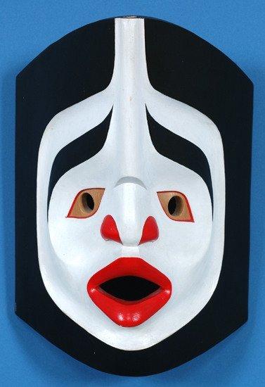 "20: Beau Dick Atlakim Wind Mask 9 3/4"" H. 7"" W. Fine Co"
