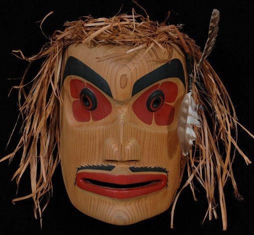 "242: Roy Peters Scowlitz Mask 11"" H. 8"" W. Fine Conditi"