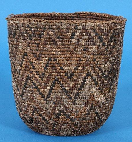 "244: 19TH C. Cowlitz Berry Basket 11 1/4"" H. 10 3/4"" L."
