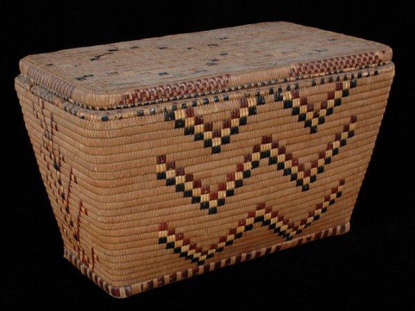 253: Salish Lidded Storage Basket From Putman Collectio
