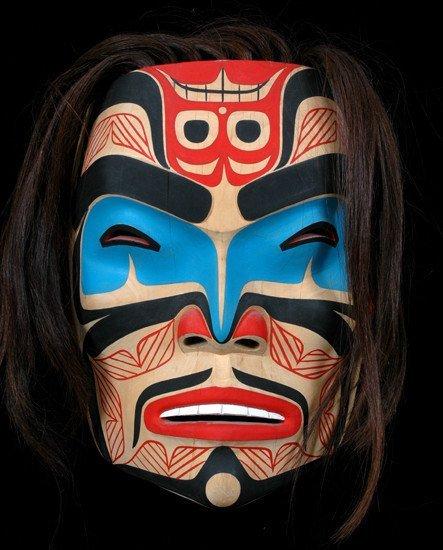 "260: Tony Hunt Jr. Northern Portrait Mask 1981 9 3/4"" H"
