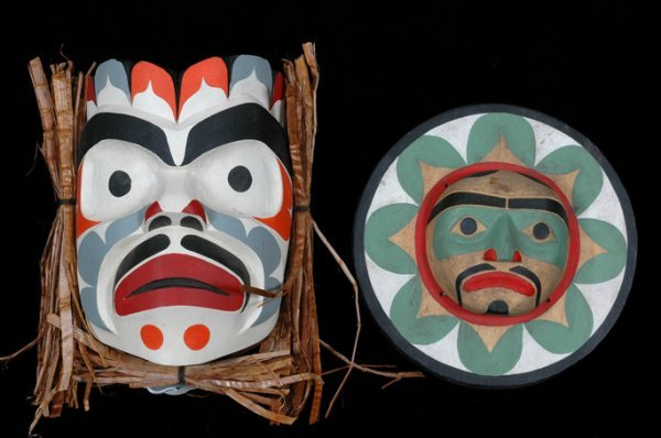 "7: Komokwa Mask by Ray Scow and Barry Scow 6 1/2"" H. 5"