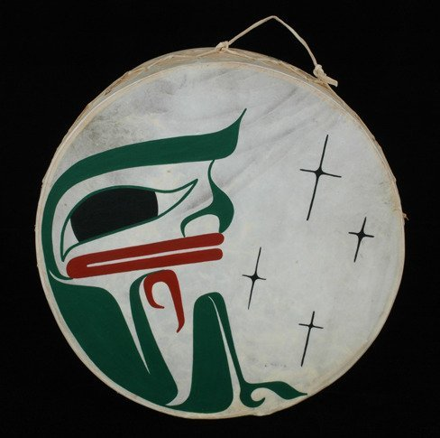 16: Painted Northwest Coast Frog Drum by Clint Work 11