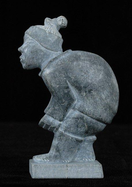 "17: Inuit Sculpture of a Skier - Greenland 5"" H. Fine C"
