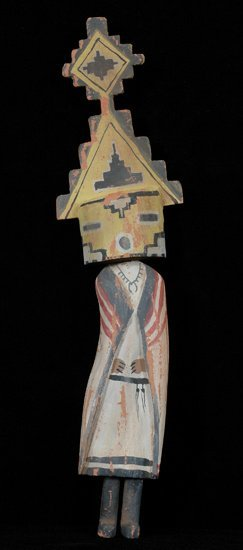 """20: Carved and Painted Kachina 15 1/2"""" H. Good Conditio"""