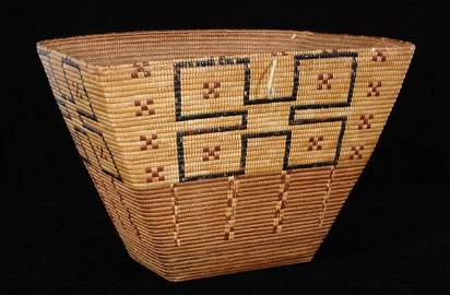 95: Superb Thompson River Burden Basket ca. 1890 19 5/8