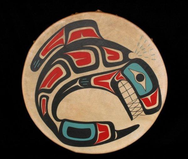 1: Haisla Painted Killer Whale Drum by Joe Bolton - Kit