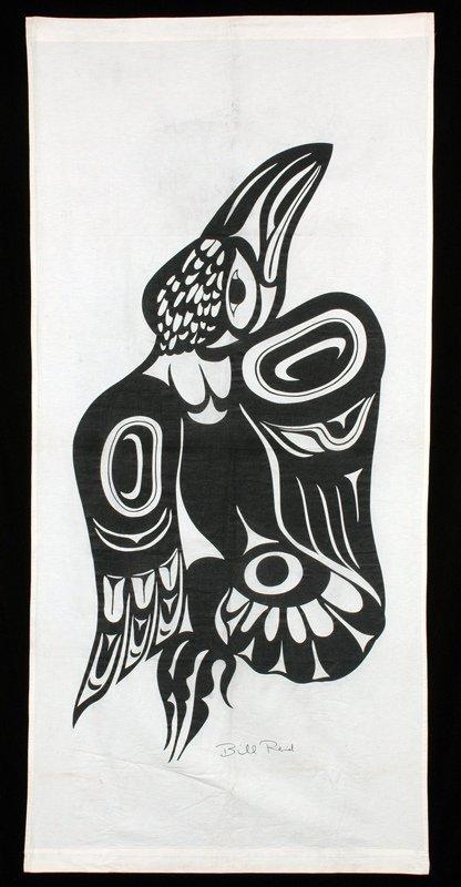 """6: Bill Reid Silkscreen Raven Banner - Signed 75""""x 35"""""""