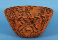 176: Huge Western Apache Gathering Basket ca. 1900 with