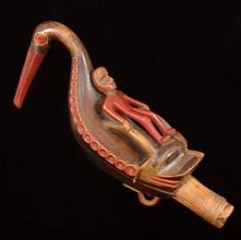 262: Tlingit Shaman's Oystercatcher Rattle ca. 1880, Re