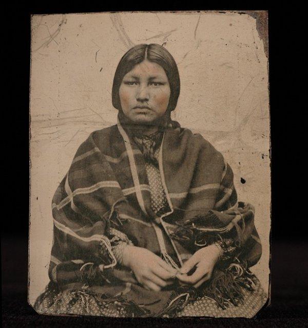 """5: Tintype Photograph of a Native Princess 3 1/4""""x 2 1/"""