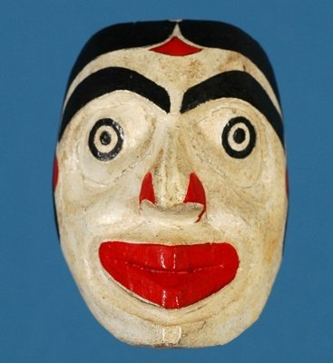 7: Miniature Mother Mask Carved by Wayne Alfred, Painte
