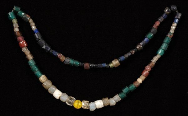 18: Strand of Russian Blue and Hudson Bay Trade Beads f