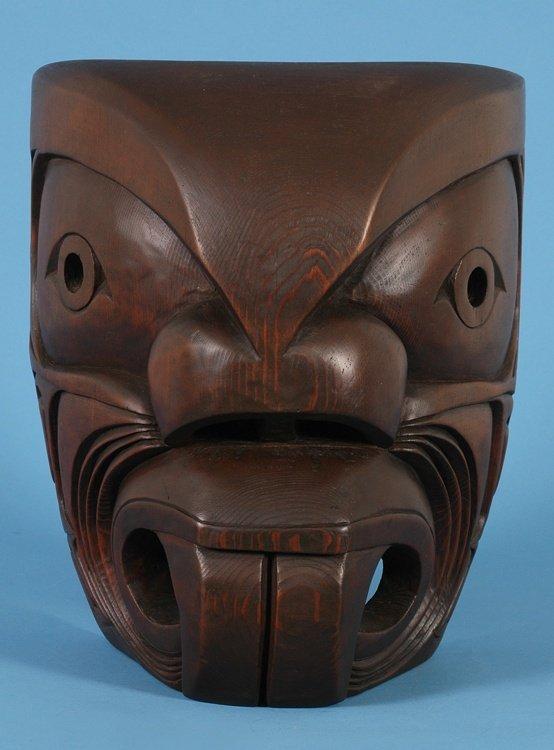 22: Kwagiulth Pugwus Mask by Paul Bruce ca. 1960's Aler