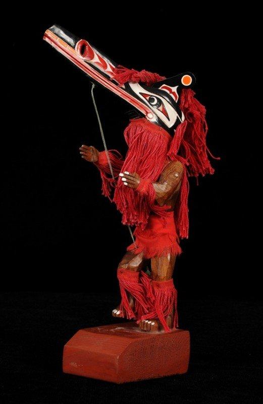 "1: Articulated Hamatsa Dancer 11 1/2"" H.  Fine Conditio"