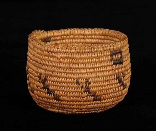 "13: Pima Basketry Cup 3 12"" D. 2 1/2"" H. Fine Condition"