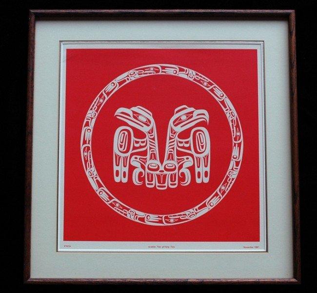 """20: Robert Davidson Potlatch Gift Print """"Eagle Raven"""" N"""