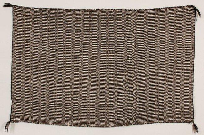 22: Navajo Double Woven Rug with Lozenge and Diamond Pa